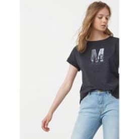 マンゴ MANGO Cotton modal-blend t-shirt (dark grey)