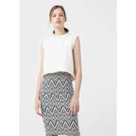 マンゴ MANGO Textured pencil skirt (natural white)