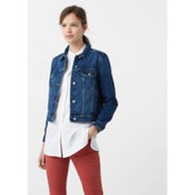 マンゴ MANGO Dark denim jacket (open blue)