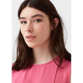 マンゴ MANGO Double-layer blouse (bright pink)