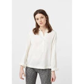 マンゴ MANGO Flowy blouse (natural white)