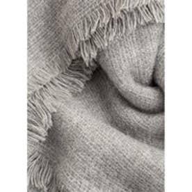 マンゴ MANGO Frayed edge scarf (medium grey)