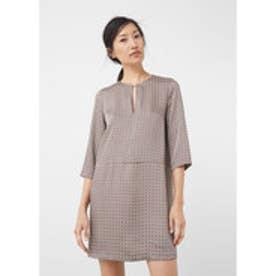 マンゴ MANGO Flowy print dress (lt-pastel pink)