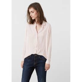 マンゴ MANGO Flowy shirt (lt-pastel pink)