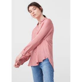 マンゴ MANGO Pockets flowy shirt (lt-pastel pink)