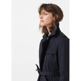 マンゴ MANGO Classic cotton trench coat (navy)