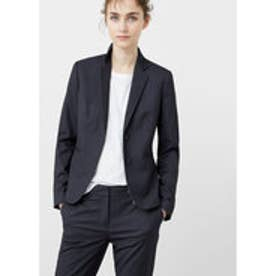 マンゴ MANGO Structured cotton blazer (medium grey)