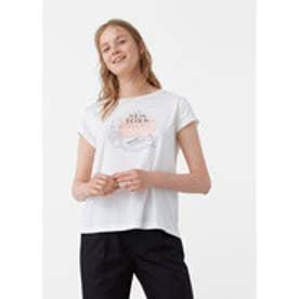 マンゴ MANGO Cotton modal-blend t-shirt (white)