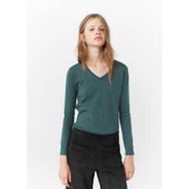 マンゴ MANGO Fine-knit sweater (green)