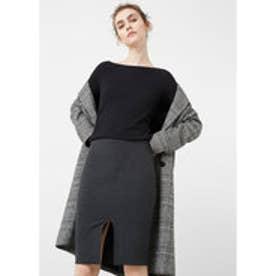 マンゴ MANGO Vent pencil skirt (dark grey)