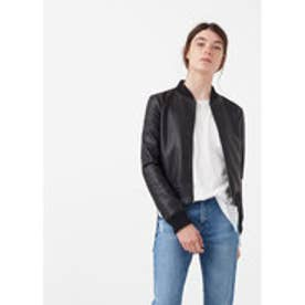 マンゴ MANGO Side-pocket bomber jacket (black)