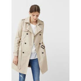 マンゴ MANGO Classic cotton trench coat (light beige)