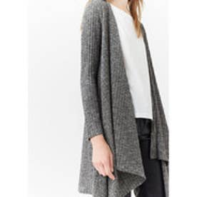 マンゴ MANGO Ribbed long jacket (medium grey)