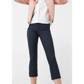 マンゴ MANGO Cotton trousers (navy)