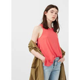 マンゴ MANGO Textured top (bright red)