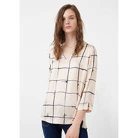 マンゴ MANGO Flowy printed blouse (light beige)