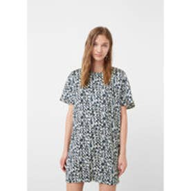 マンゴ MANGO Printed dress (navy)