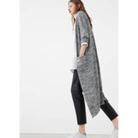 マンゴ MANGO Long cardigan (lt pastel grey)
