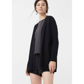 マンゴ MANGO Textured cardigan (black)