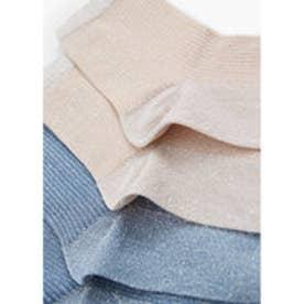 マンゴ MANGO Metallic ankle socks pack (lt-pastel pink)