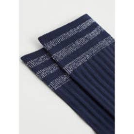 マンゴ MANGO Metal thread socks (navy)