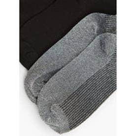 マンゴ MANGO Metallic ankle socks pack (black)