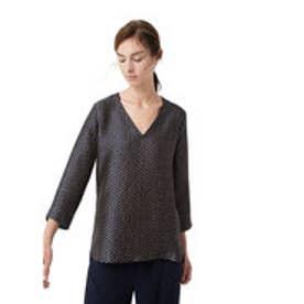 マンゴ MANGO Flowy printed blouse (navy)