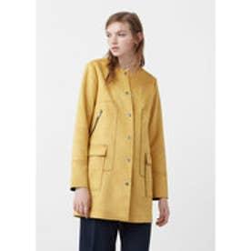 マンゴ MANGO Straight pockets coat (medium yellow)