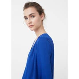 マンゴ MANGO Flowy blouse (bright blue)