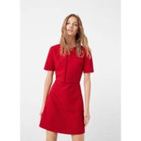 マンゴ MANGO Open-work trim dress (medium pink)