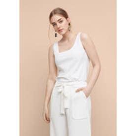 マンゴ MANGO Strap top (white)