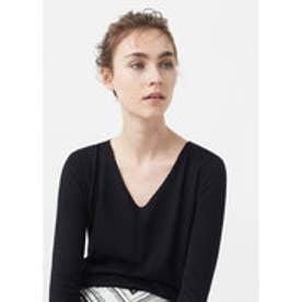 マンゴ MANGO Fine-knit sweater (black)