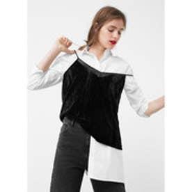 マンゴ MANGO Velvet top (black)