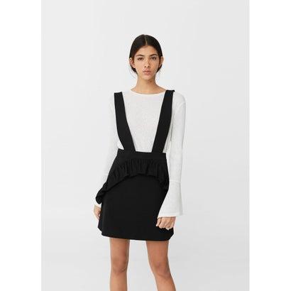 ジャンパースカート Ruffled pinafore dress (ブラック)