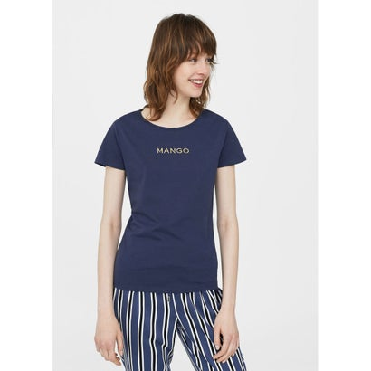 Tシャツ .-- MANGOLOG-H (ネイビー)