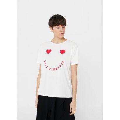 Tシャツ .-- PLATONIC (ホワイト)