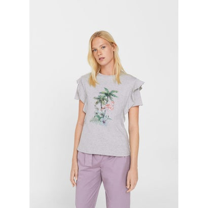 Tシャツ .-- SEQUIN (パステルグレー)