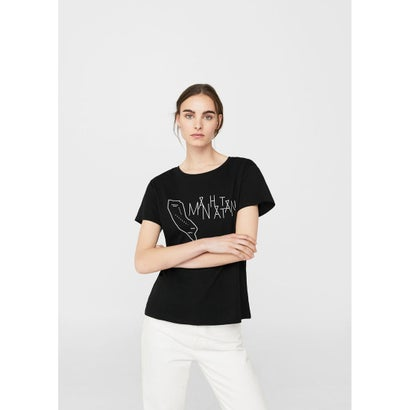 Tシャツ .-- CITIES (ブラック)