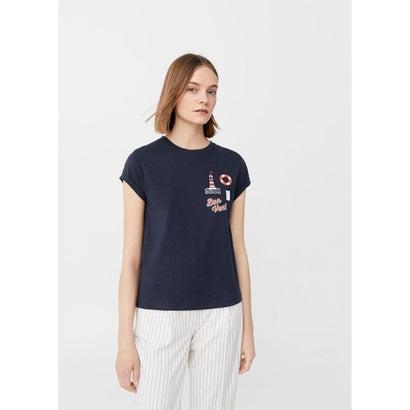 Tシャツ .-- BONVE-H (ネイビーブルー)
