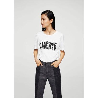 Tシャツ .-- CHERIE (ホワイト)