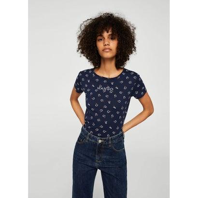 Tシャツ .-- MANGOPE-H (ネイビーブルー)