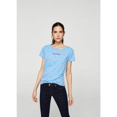 Tシャツ .-- MANGOCO-H (ミディアムブルー)