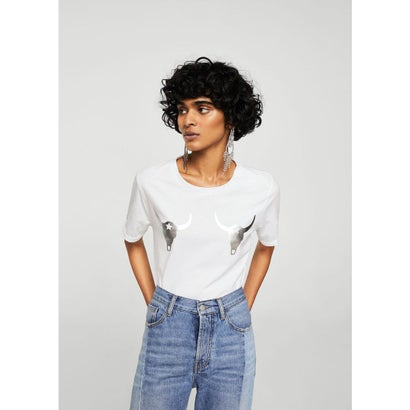 Tシャツ .-- BULL (ホワイト)