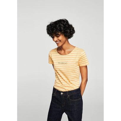Tシャツ .-- MANGOTUC-H (パステルオレンジ)