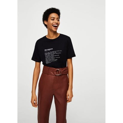 Tシャツ .-- LETTERS (ブラック)