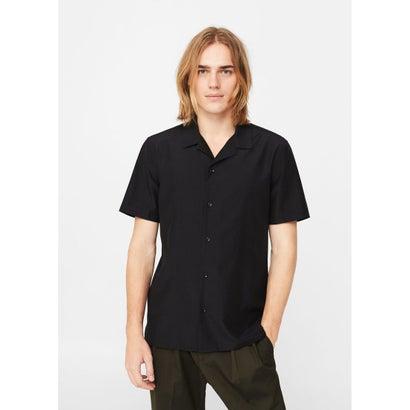 スリムフィットシャツ .-- SARA (ブラック)