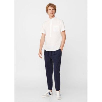 スリムフィットシャツ .-- MAYMA-H (ホワイト)