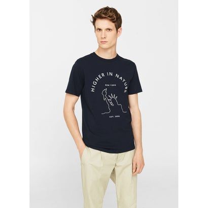 Tシャツ .-- HIGHER-H (ネイビーブルー)