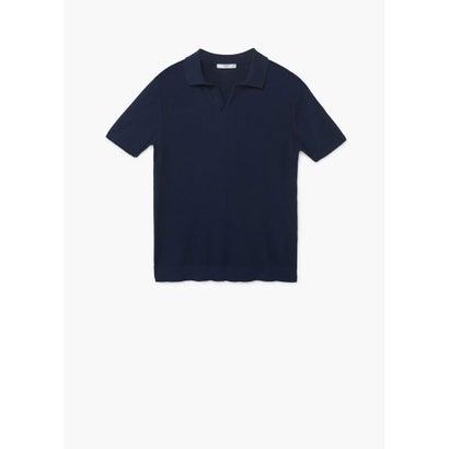 ポロシャツ .-- FEEL (ネイビーブルー)