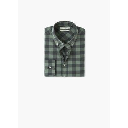 スリムフィットシャツ .-- CLAUDE1 (ベージュ-カーキ)